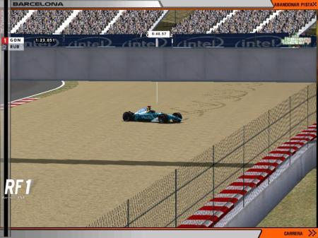 segundo accidente de Iván, en ambos acabó el coche de forma muy parecida